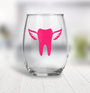 Wine Glass - Tooth with Wings